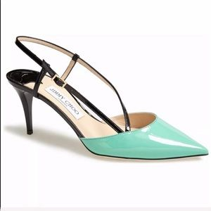 Jimmy Choo, Mandy Mint  Heels Height: 2 1/2 inches